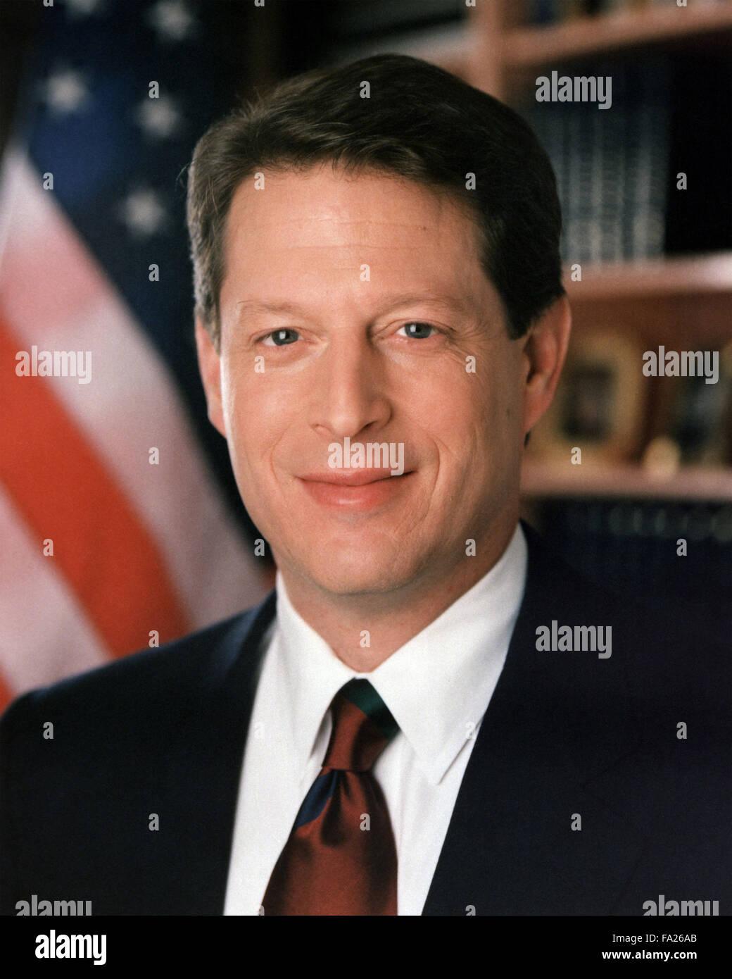 """Al Gore, Albert Arnold """"Al"""" Gore, Jr., US-amerikanischer Politiker und Umweltschützer, der 45. Vizepräsident Stockbild"""