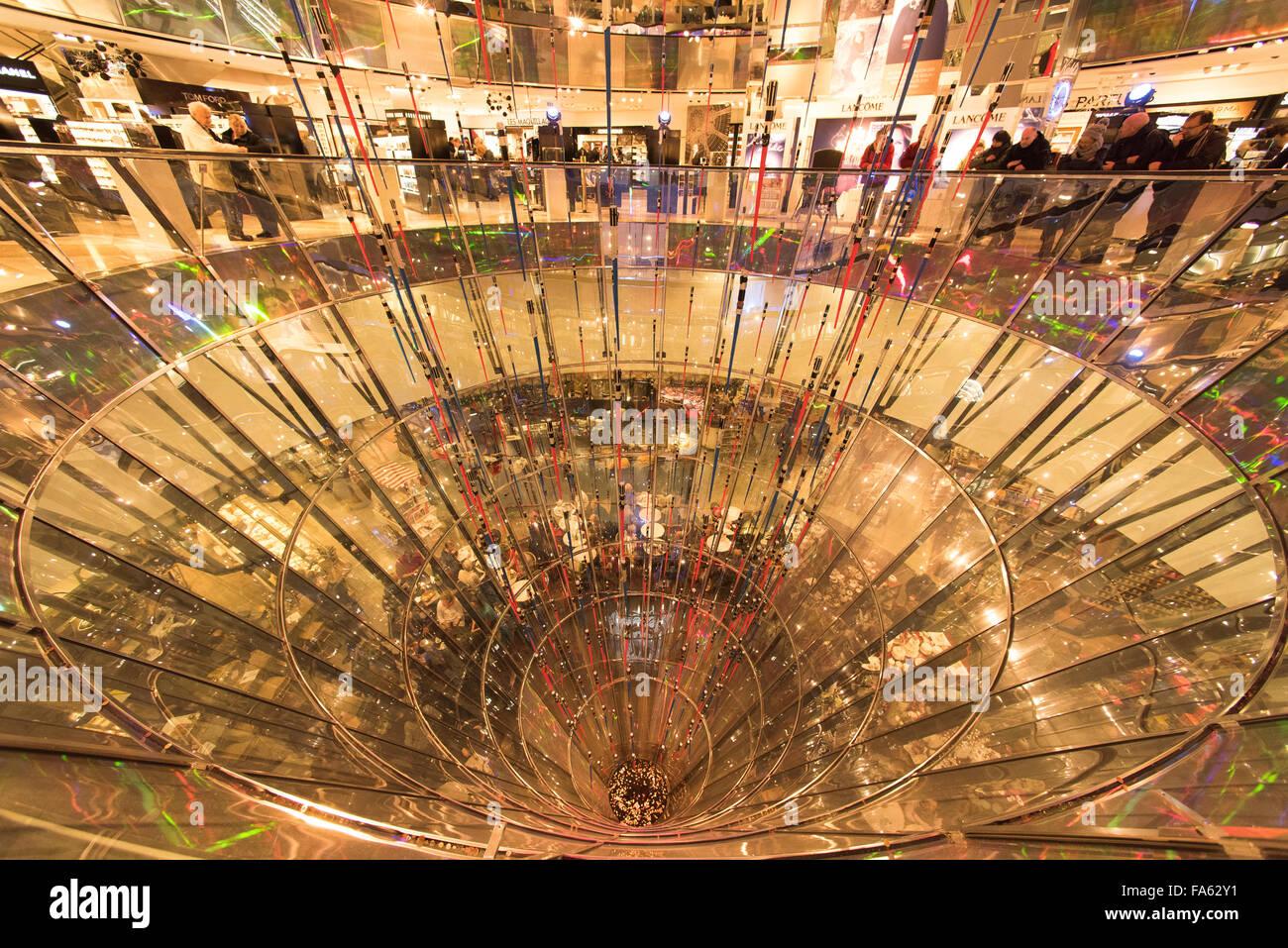 Galeries Lafayette Berlin Deutschland Stockbild