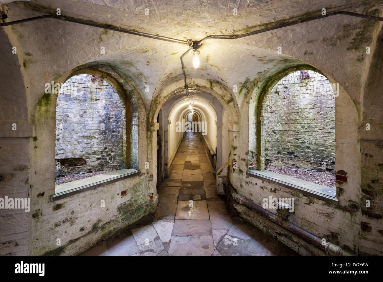 Die Tunnel in Uppark House and Garden, West Sussex. Stockbild