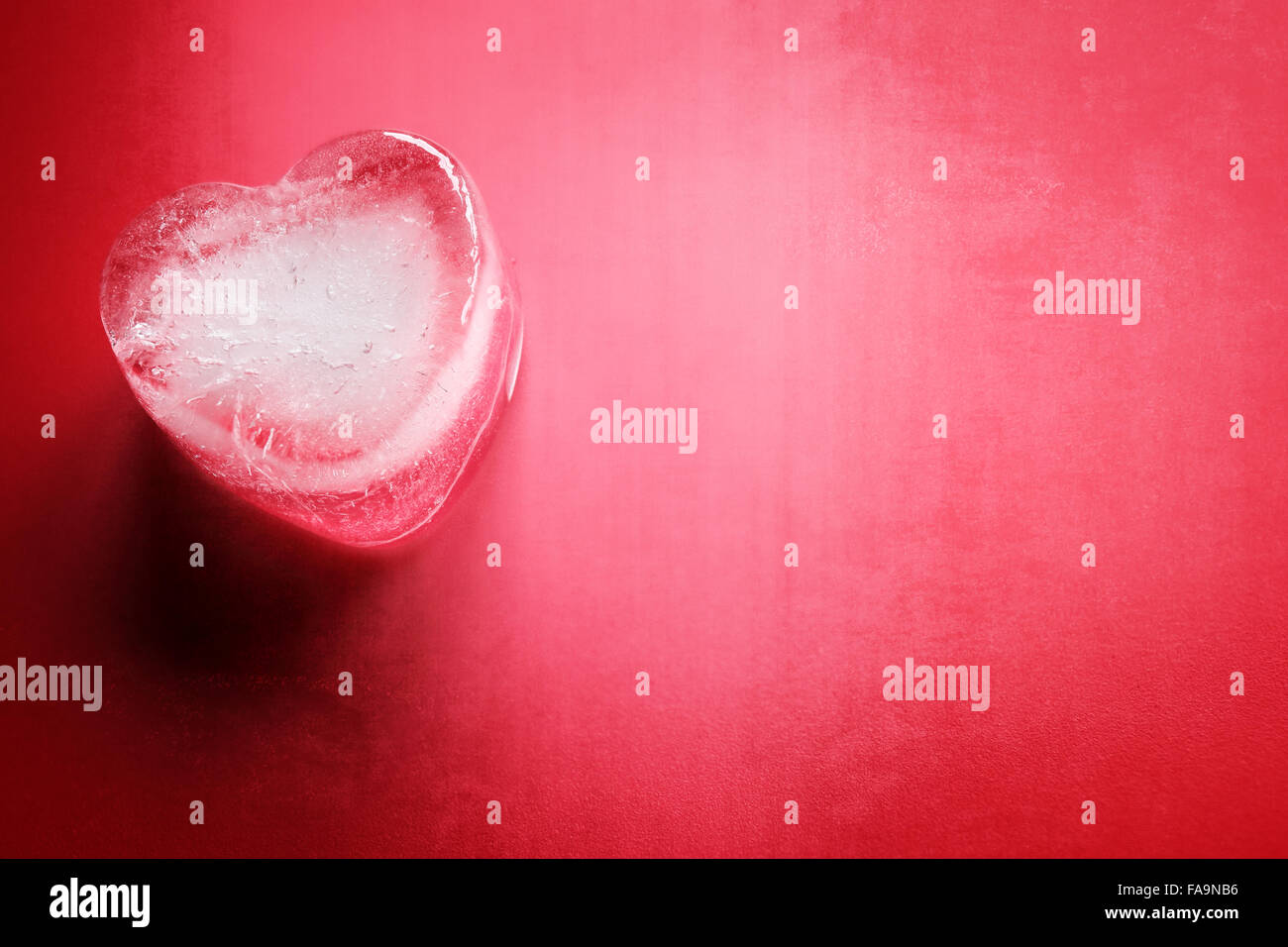 Eisherz Hintergrund Stockbild