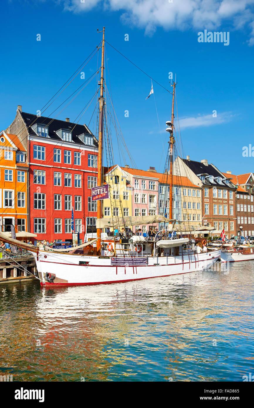 Kopenhagen, Dänemark - Nyhavn Kanal Stockbild
