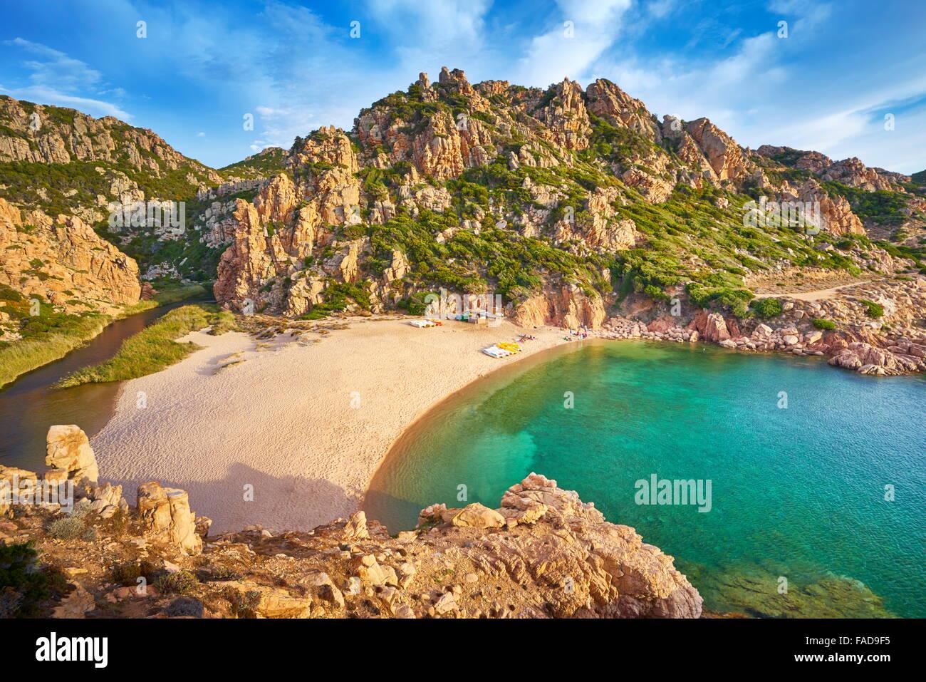 Sardinien - Costa Paradiso Beach, Italien Stockbild