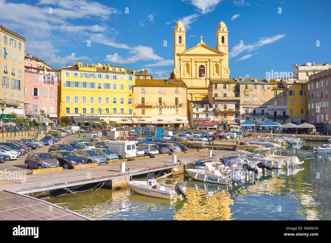 Insel Korsika, Bastia Port, Frankreich Stockbild