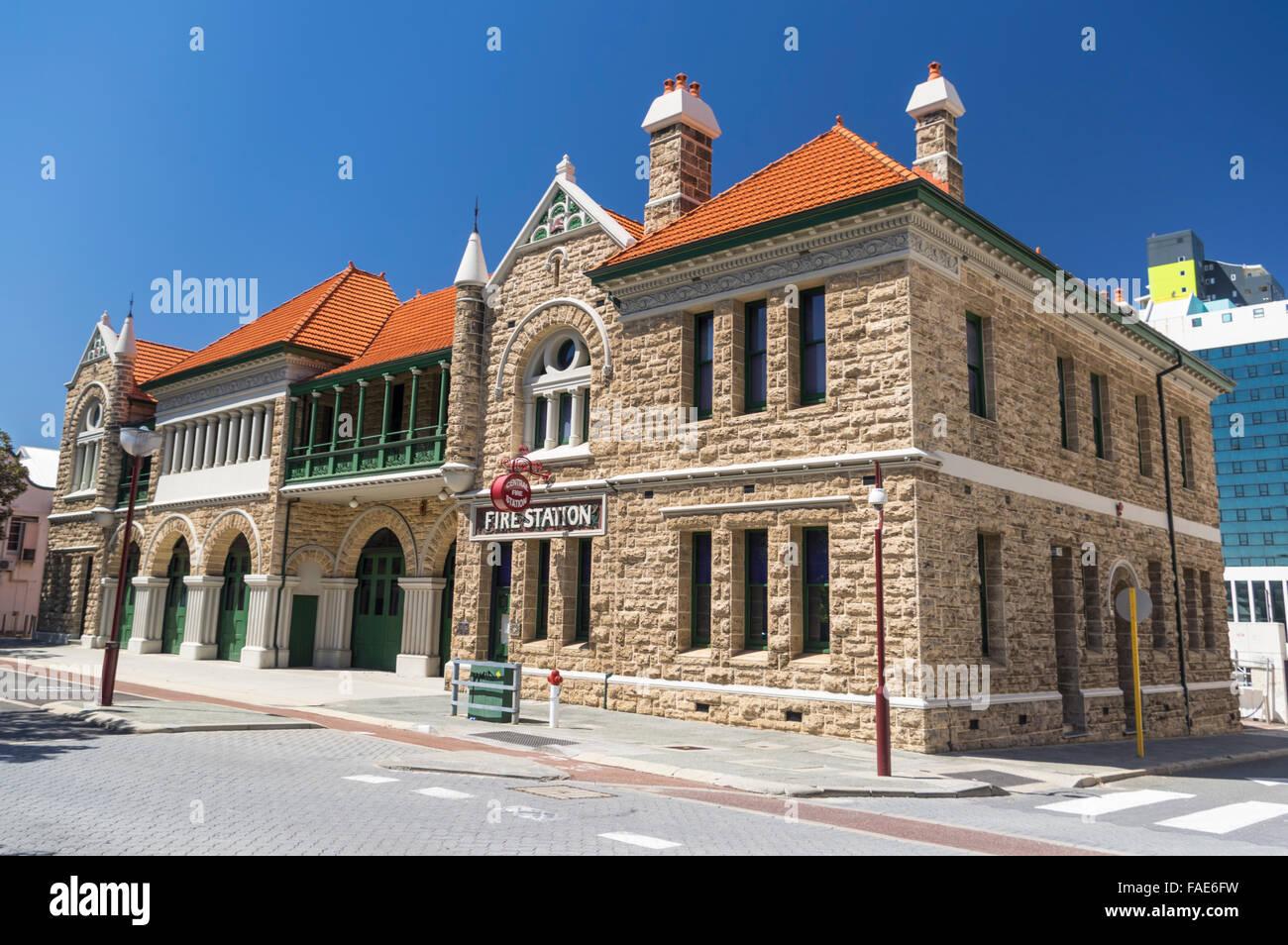 Alten Perth Feuerwache (erbaut 1901), jetzt das Feuer & Emergency Services Bildung und Heritage Centre. Murray Stockbild