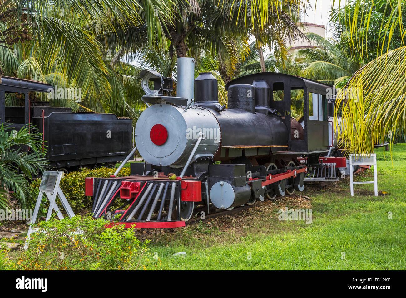 Nostalgischen Dampfloks, Marcelo Salado Zuckermuseum, Caibarién, Remedios, Kuba Stockbild