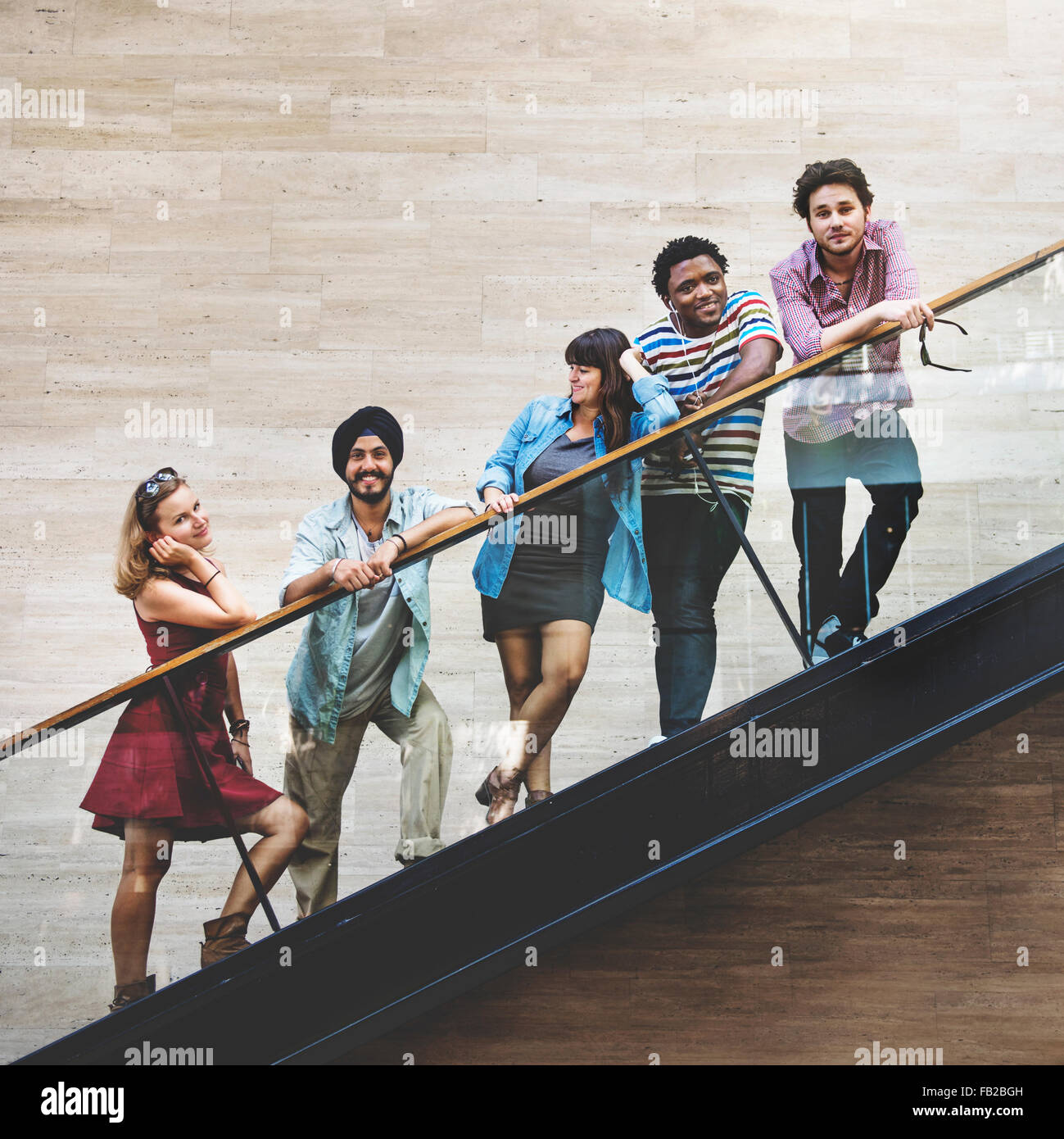 Diversity-Teenager-Freunde-Jugend-Kultur-Konzept Stockbild