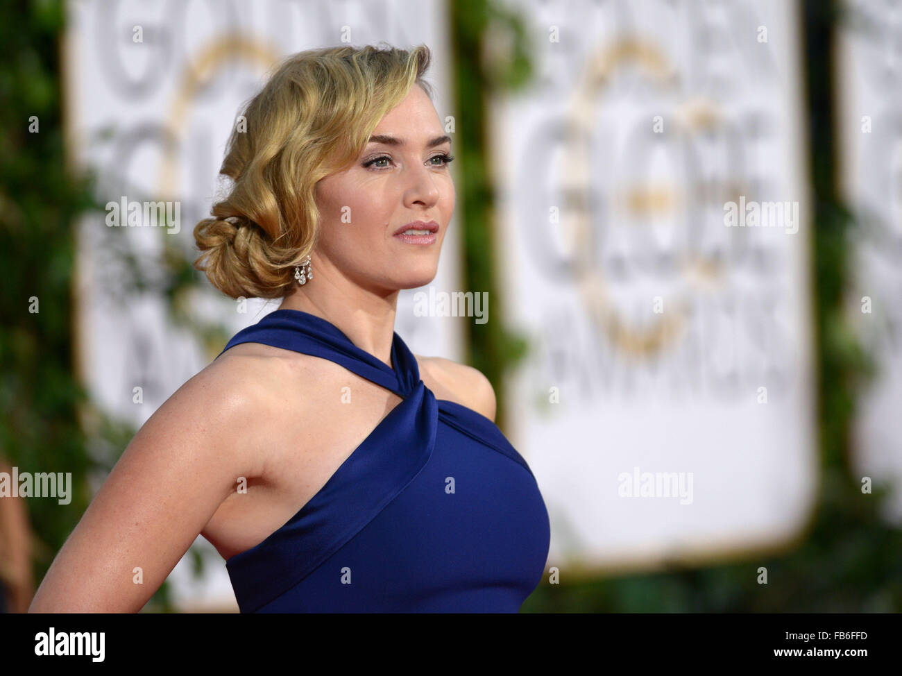 Los Angeles, Kalifornien, USA. 10. Januar 2016. Kate Winslet kommt bei den Golden Globes, Los Angeles, CA-Credit: Stockbild