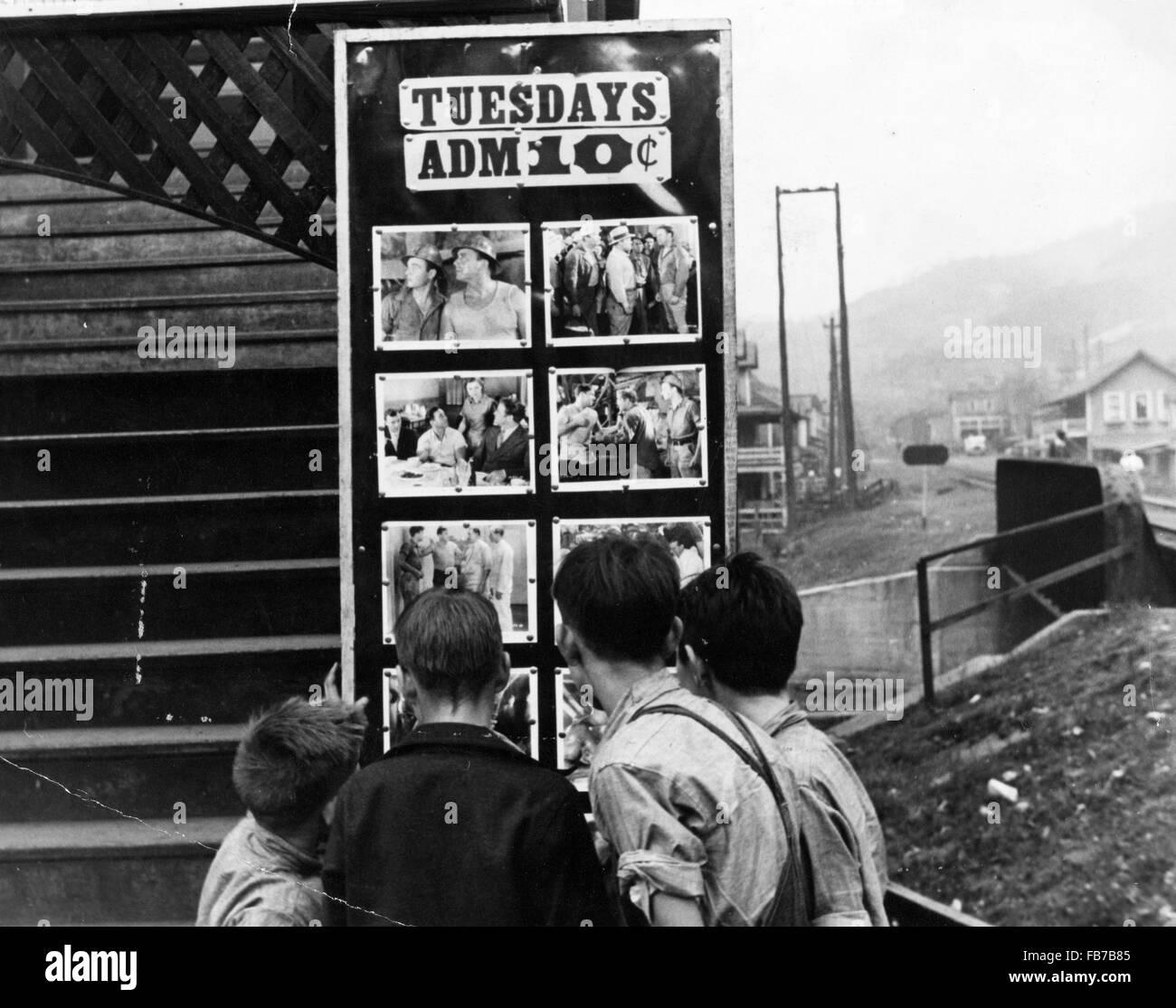Film Theater, Omar, West Virginia, Amerika, 1930 Stockbild