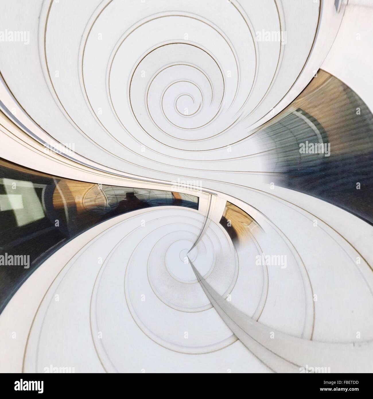 Digitalen zusammengesetztes Bild des weißen Kaleidoskopmuster Stockbild