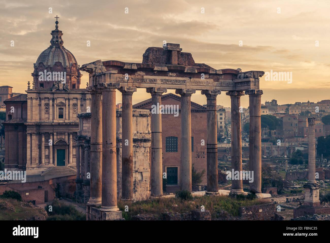 Rom: Forum Romanum Stockbild