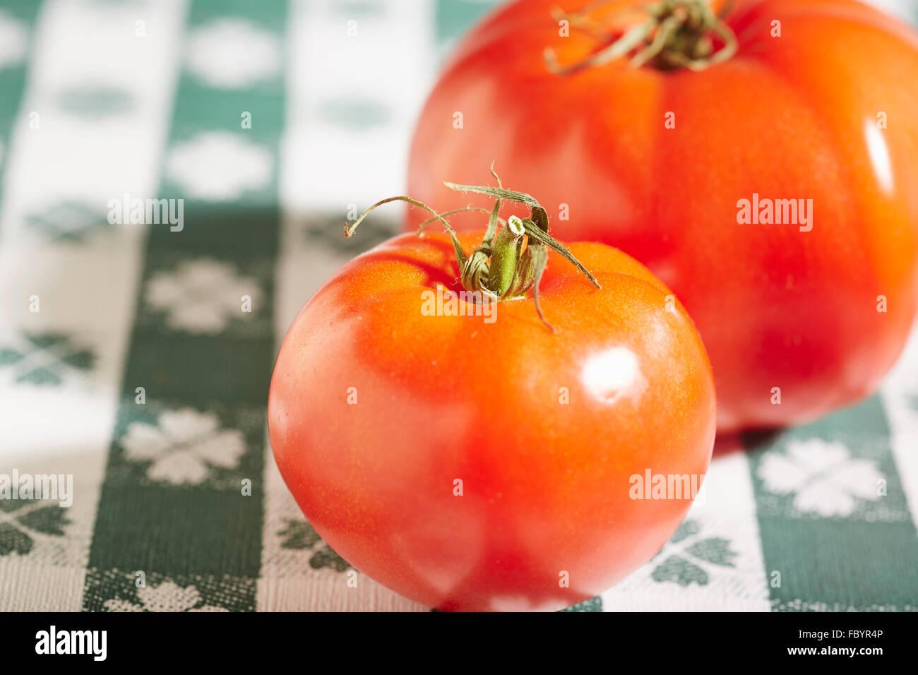 rote Fleischtomaten Stockbild