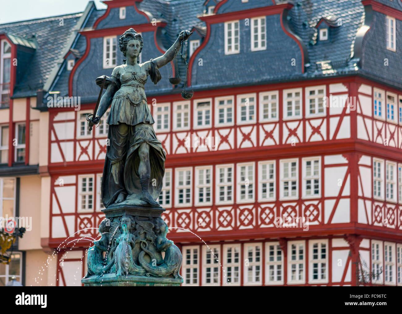 Altstadt (alte Stadt), Romerberg, Frankfurt am Main, Hessen, Deutschland, Europa Stockbild