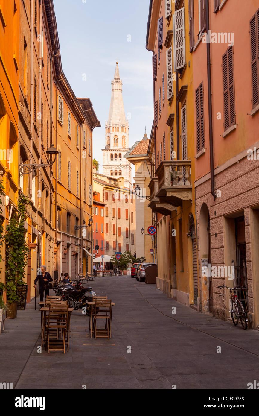 Das historische Zentrum von Modena, Emilia-Romagna, Italien, Europa Stockbild