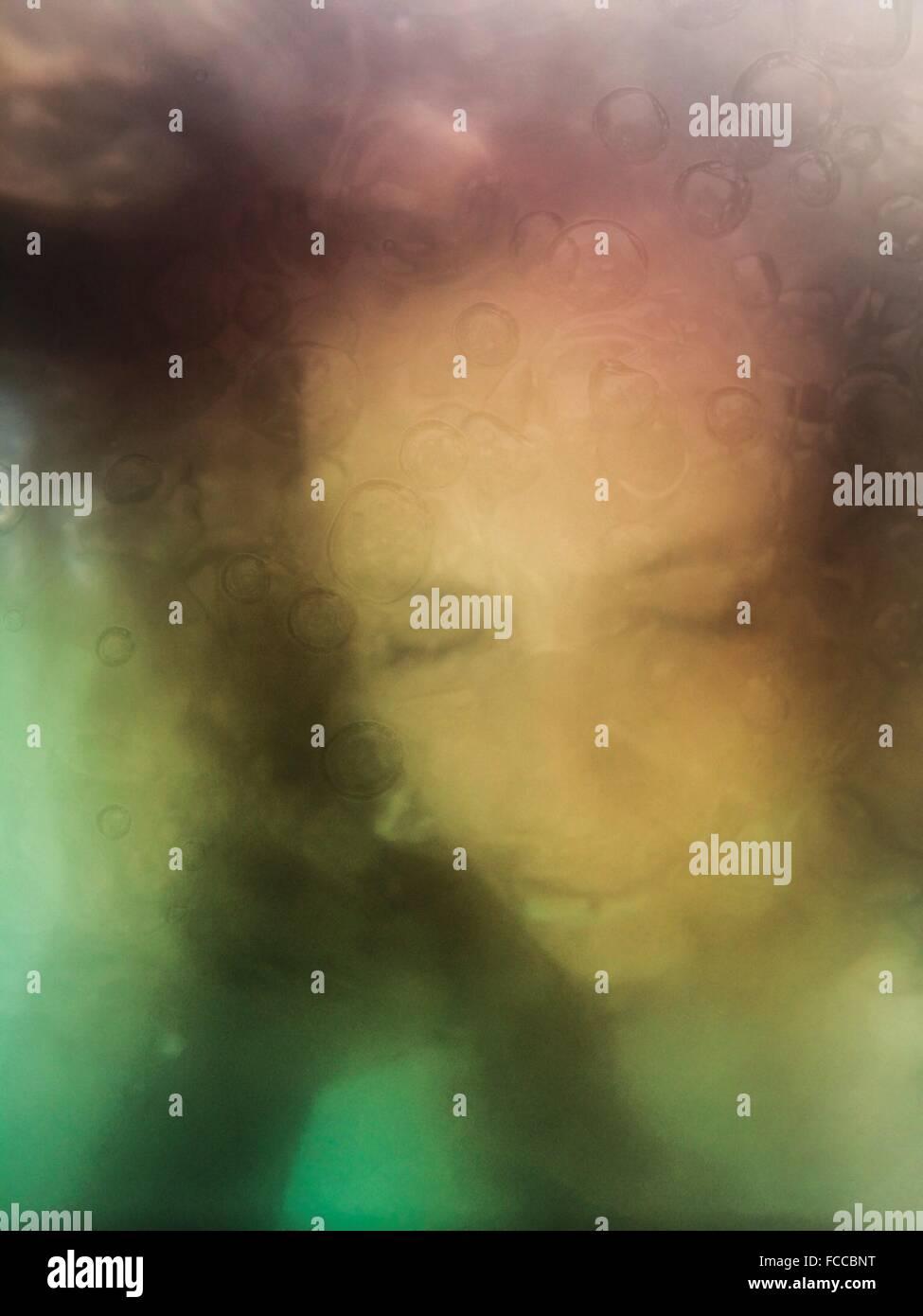 Kreative Selfie mit Unterwasser-Effekt Stockbild