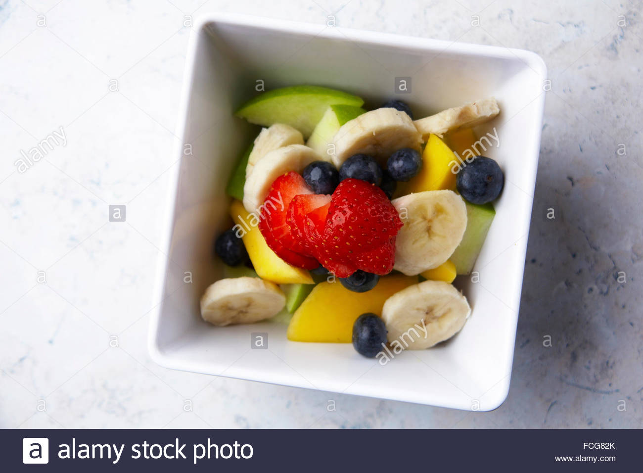 Obstsalat Stockbild