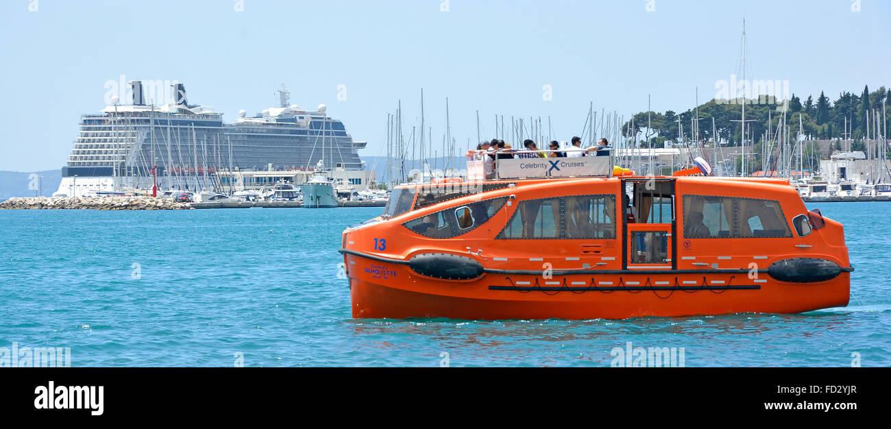 Kreuzfahrtschiff Celebrity silhouette günstig offshore Schiffe Rettungsboot Angebote verwendet, um Passagiere Stockbild