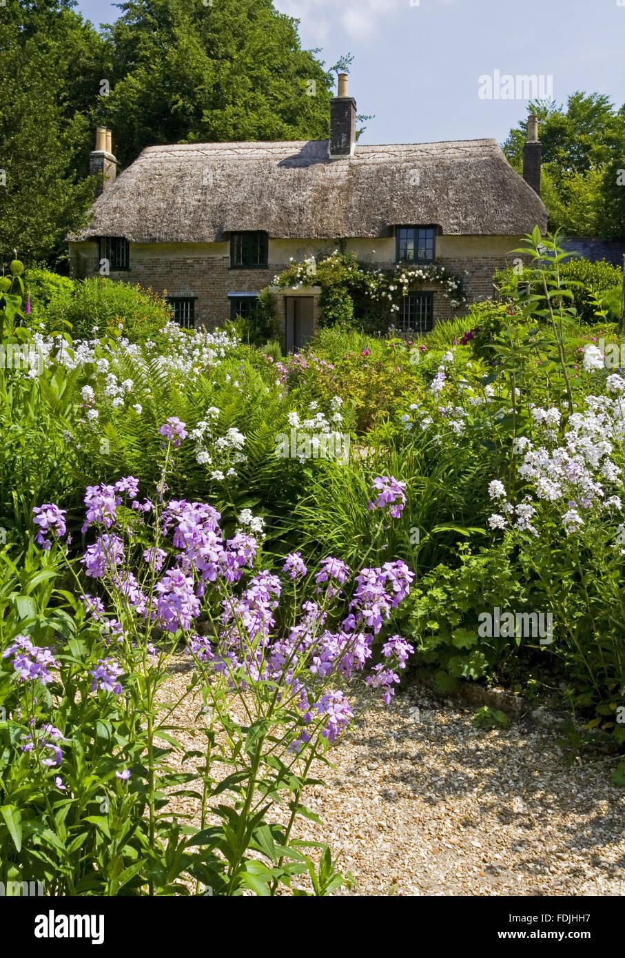 Hardys Cottage, dem Geburtsort 1840 der Schriftsteller und Dichter Thomas Hardy, bei höheren Brockhampton, Stockbild