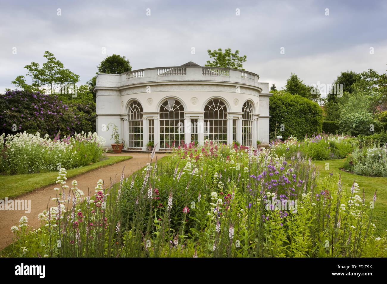 Das Garden House, gebaut im Jahre 1780 von Robert Adam, auf dem Gelände Vergnügen am Osterley, Middlesex. Stockbild
