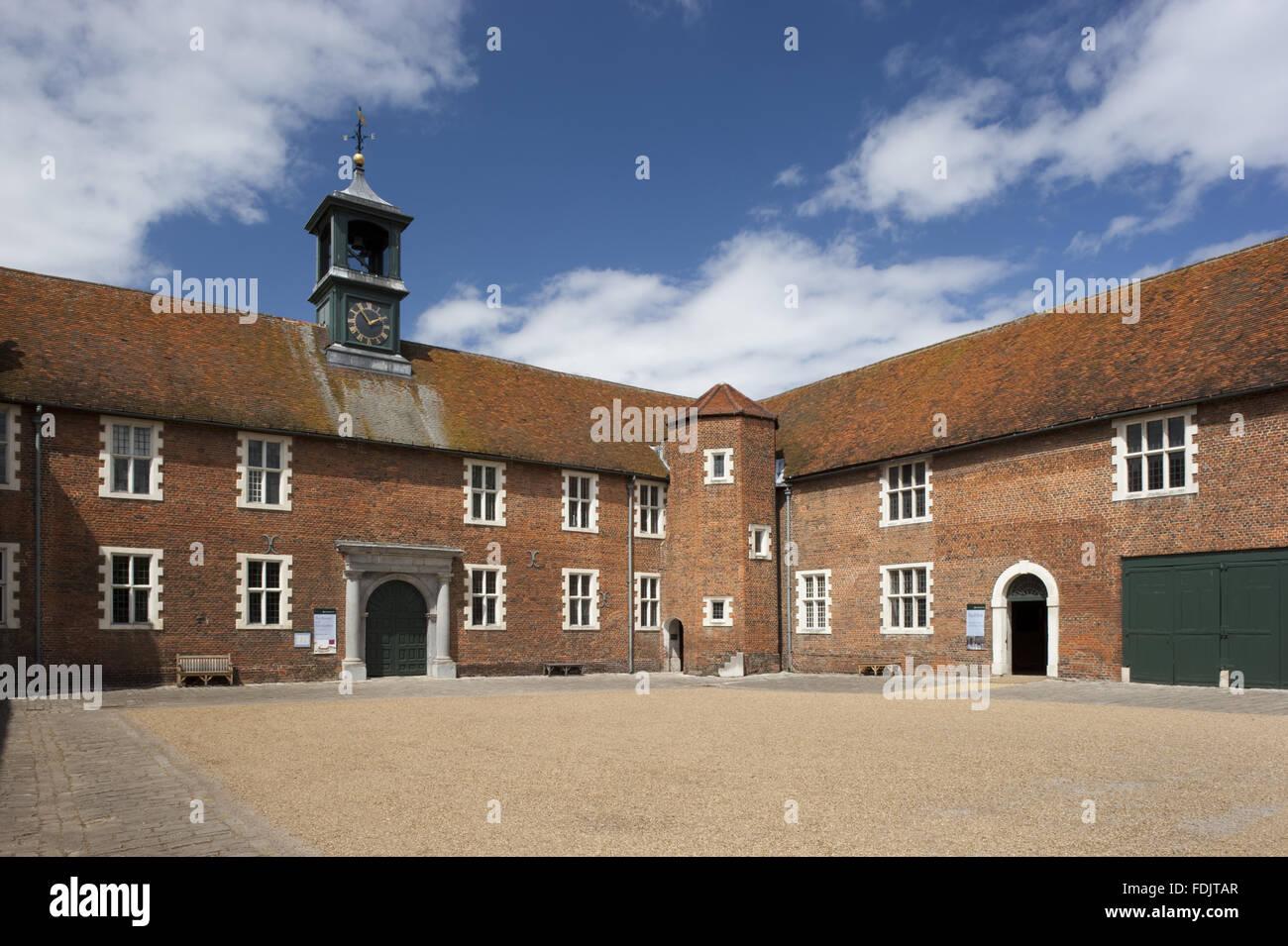 Die stabile Hof Osterley, Middlesex. Eine stabile gab es hier in der elisabethanischen Zeit, aber die heutigen Gebäude Stockbild