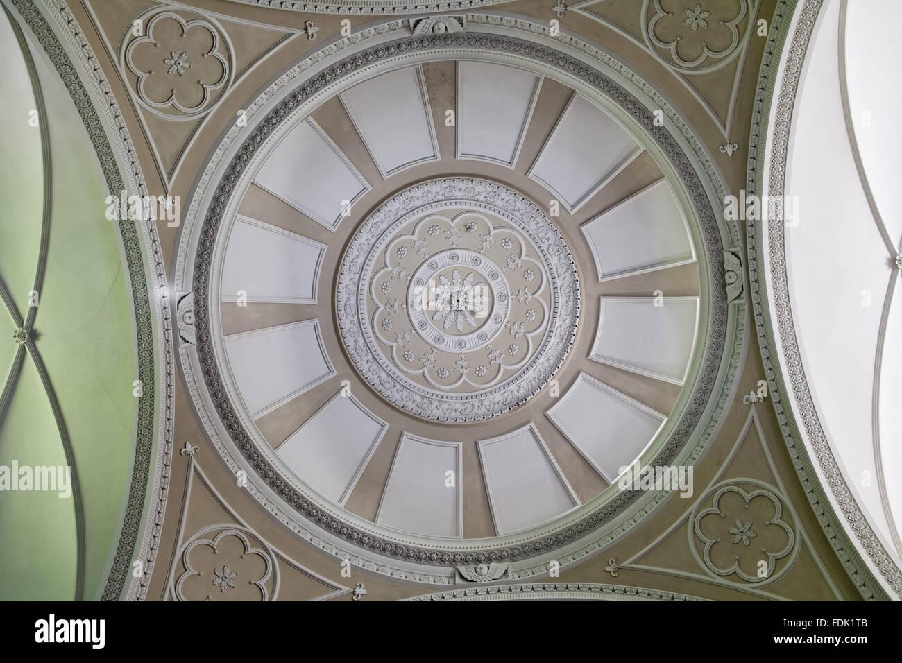 Die gewölbte Decke der palladianischen Kapelle, begonnen im Jahre 1760 auf das Design von James Paine, bei Stockbild