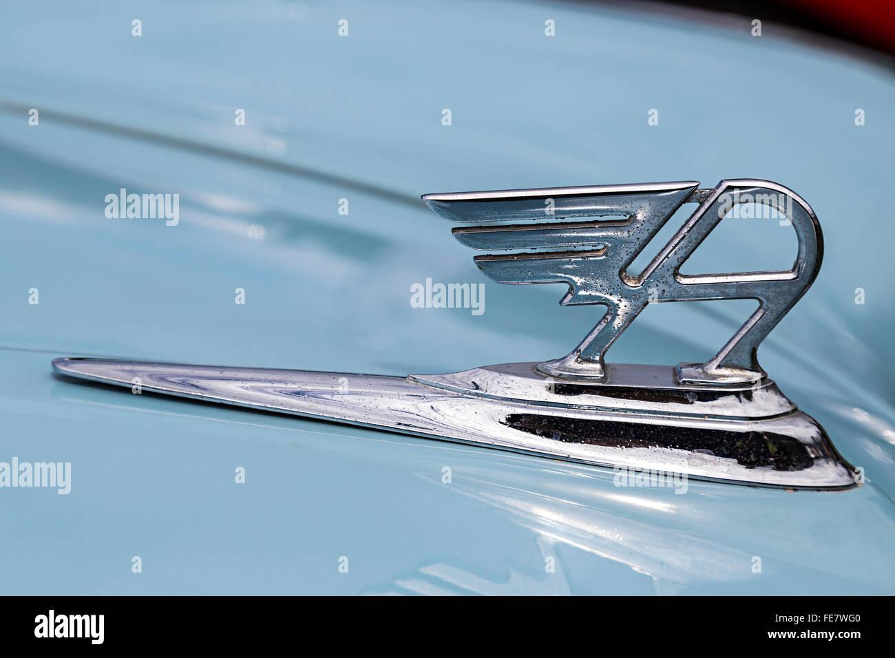Austin A40 Wagen Abzeichen Stockbild