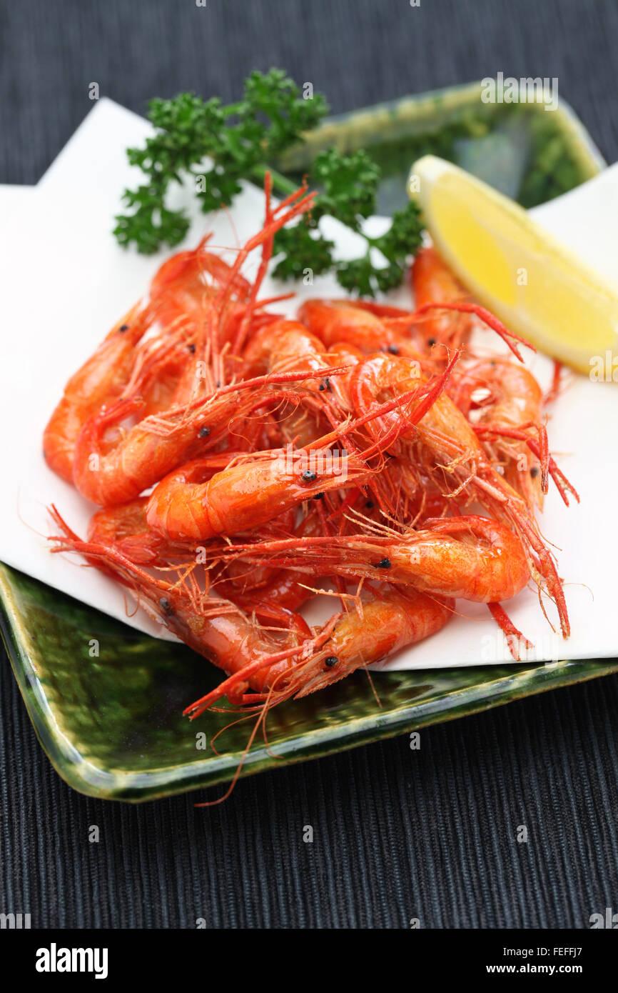 frittierte Süßwasser Garnelen, Kawaebi keine Karaage, japanisches Essen Stockbild