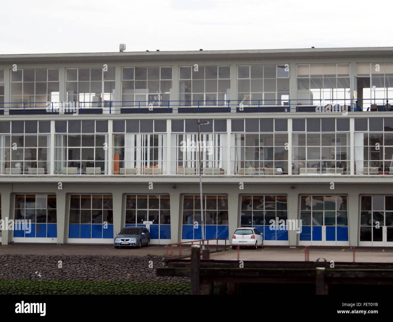 Clondalkin 50er Jahre Gebouw Aan de Maas pic2 Stockbild