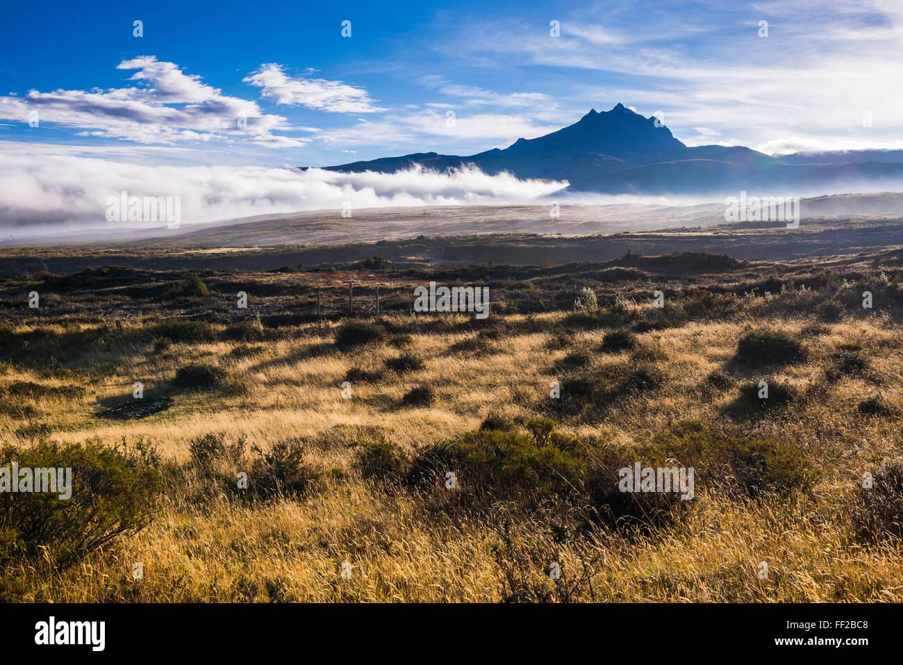 SinchoRMagua VoRMcano bei Sonnenaufgang, Provinz Cotopaxi in Ecuador, Südamerika Stockbild