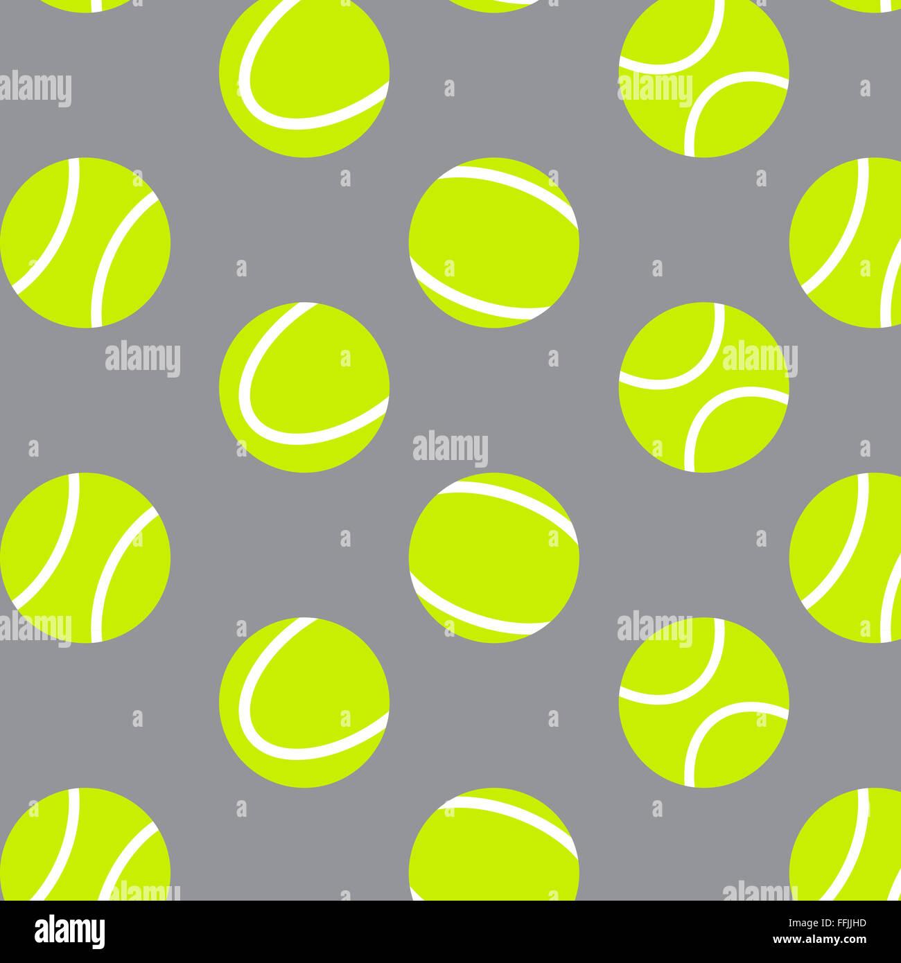 Tennis Ball Musterdesign Hintergrund. Tennis Sport Musterdesign, Kugel-Wiederholung. Vektor abstrakte flaches Design Stockbild