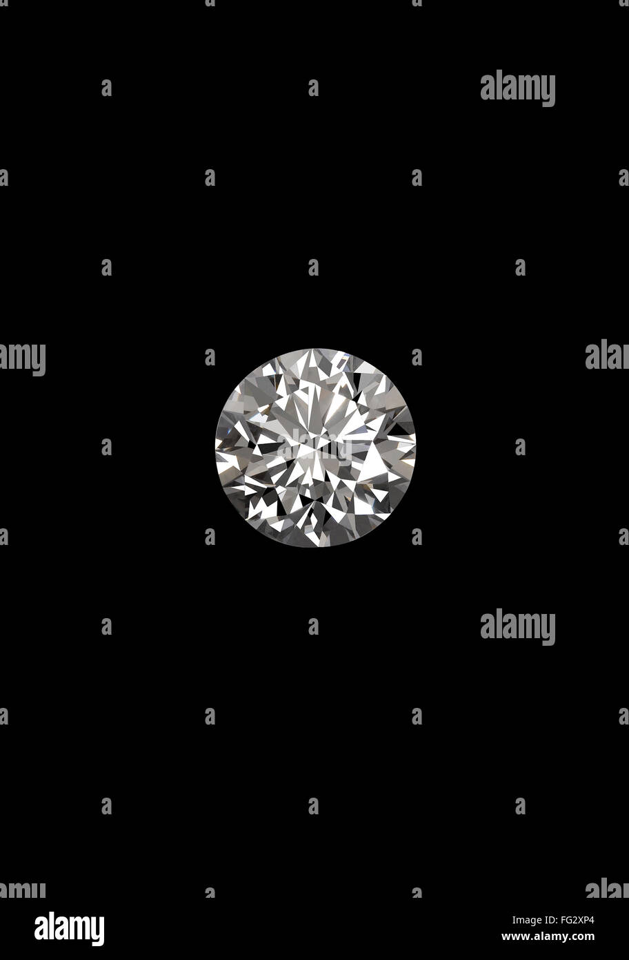 Diamant auf schwarzem Hintergrund Stockbild