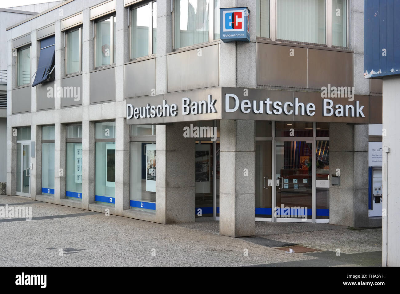 Filiale der Deutschen Bank. Stockbild