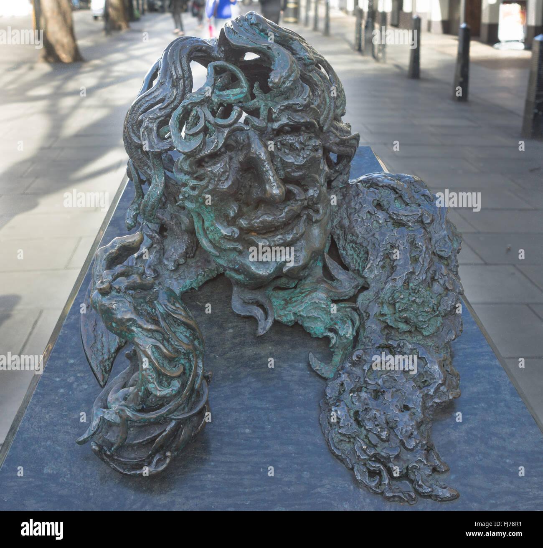 Statue von Oscar Wilde Stockbild