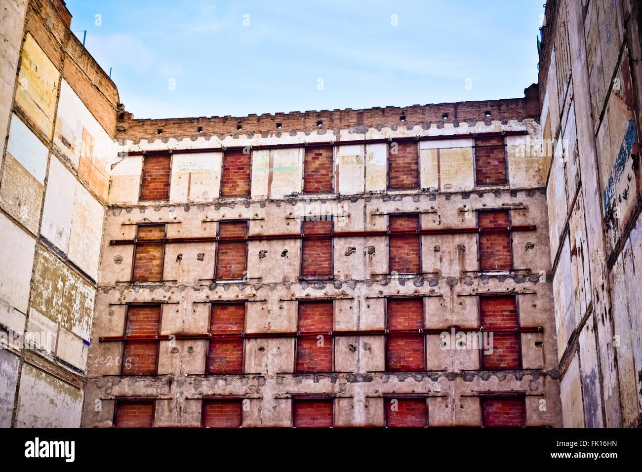 Umbau eines alten Gebäudes Stockbild