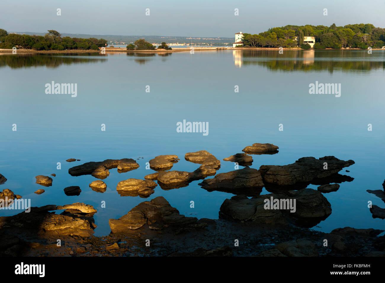 Fernsehreihe, Istrien, Insel Veli Brijuni Im Nationalpark Brijuni-Inseln Vor Pula. Stockbild
