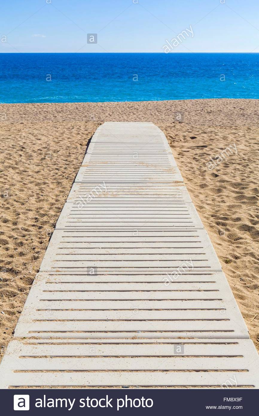 Spanien, Katalonien, Maresme Küste Pineda de Mar Strand Stockbild