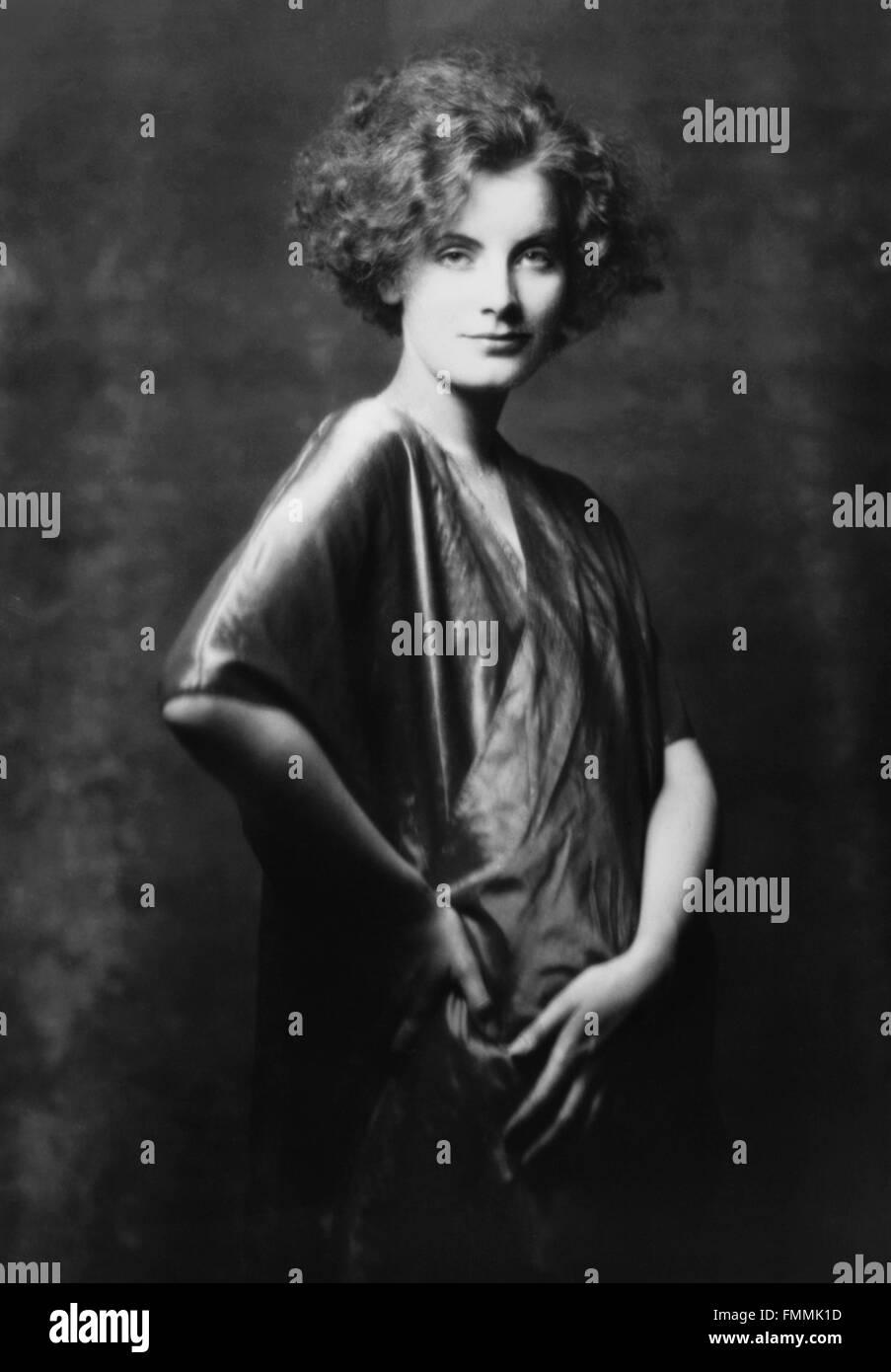 Greta Garbo. Porträt der schwedischen Filmstar, Greta Garbo, durch Arnold Genthe, geboren 1925 Stockbild