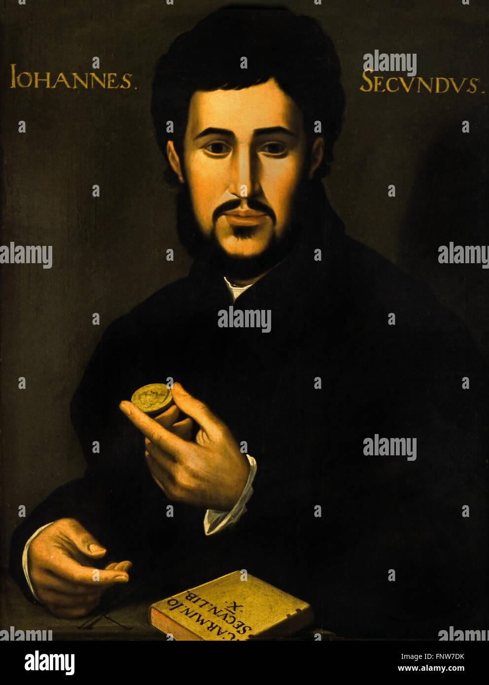 Johannes Secundus (auch Janus Secundus) 1511 ? 1536 Hollandse Schule 1540 war ein New lateinischen Dichter des niederländischen Stockbild