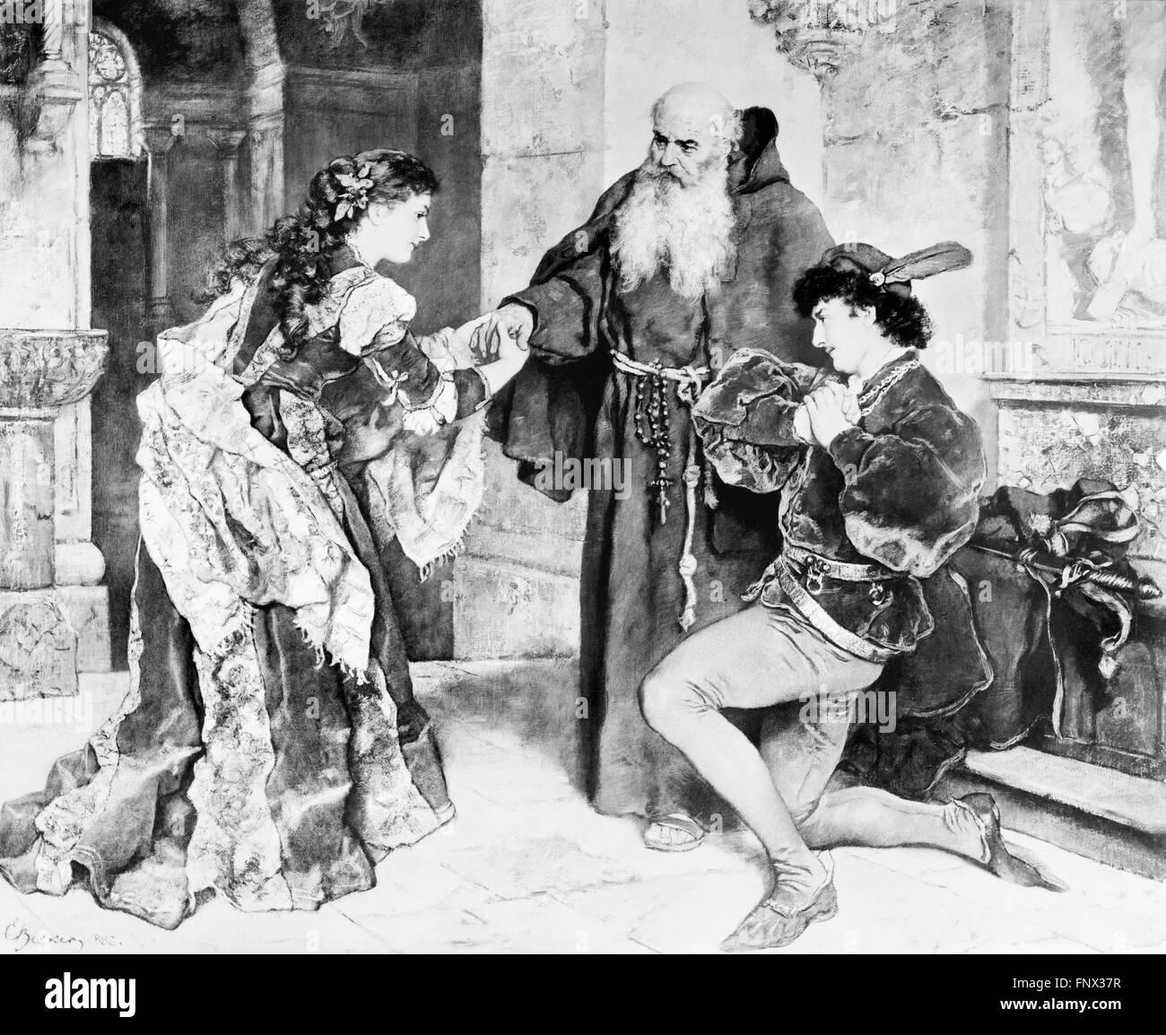 """Shakespeares """"Romeo und Julia"""", eine frühe 20thC Foto eines Gemäldes datiert 1882 Stockbild"""