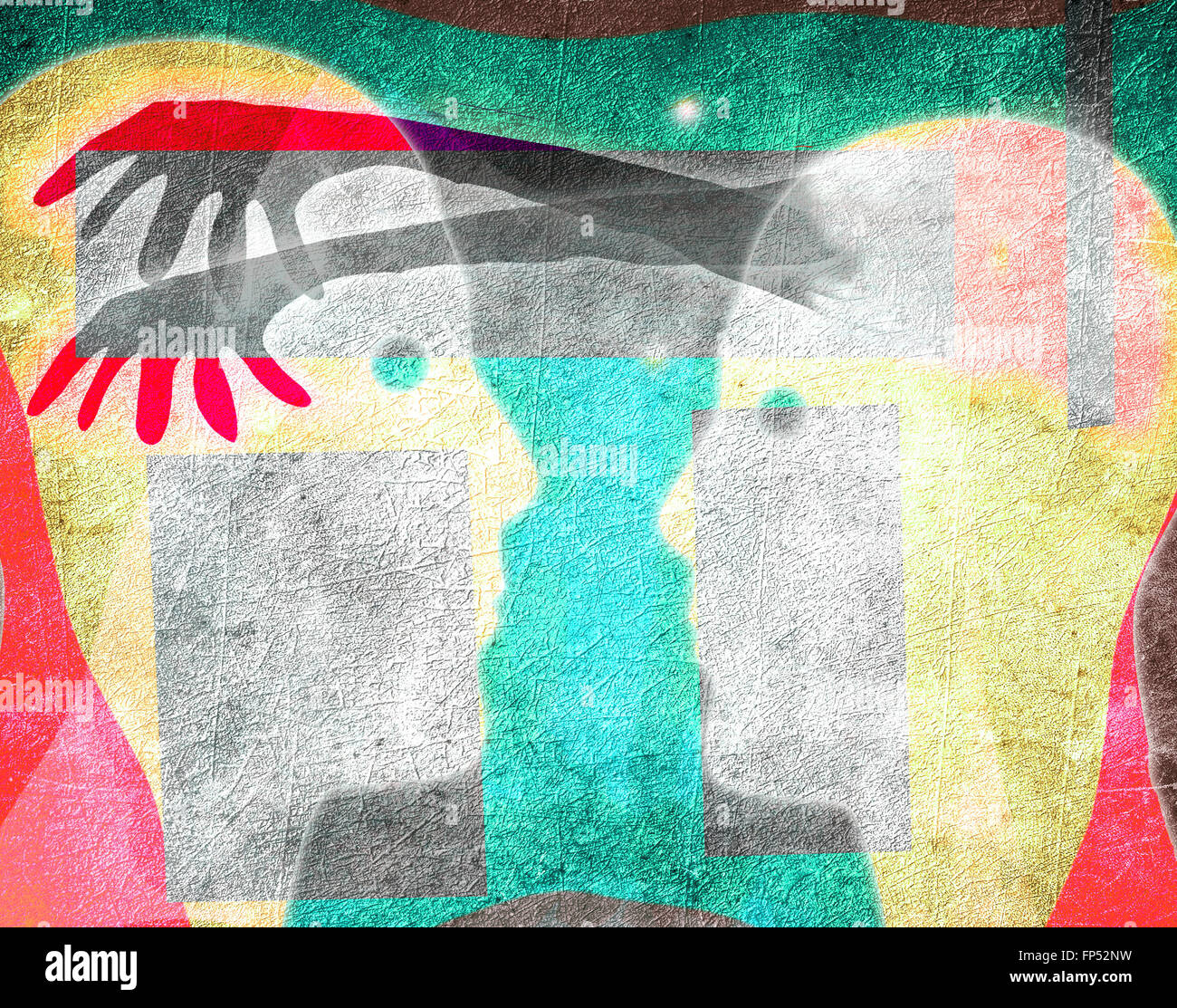 Verstand Manipulation Konzept digitale illustration Stockbild
