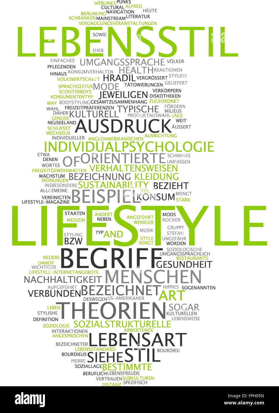 Lifestyle Lebensstil Ausdruck müssen Leben stil Stockbild