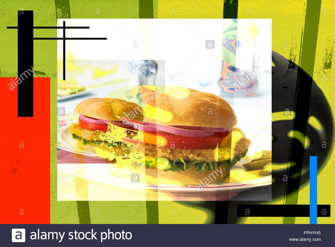 Gefangen in Fast-food Stockbild