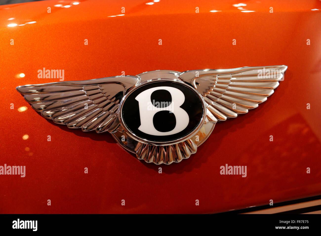 "Das Logo der Marke ""Bentley"", Berlin. Stockbild"