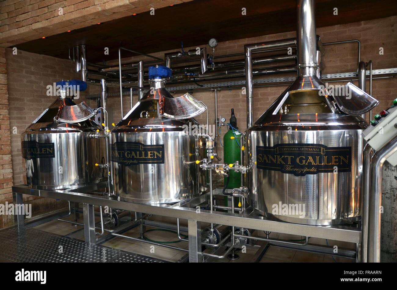 Herstellung von Bier in Serrana Region Fluminense Stockbild