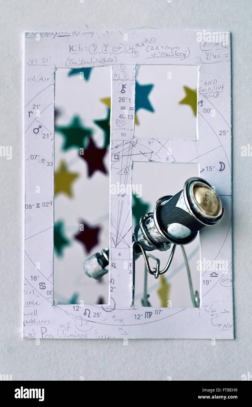 In meinem Fenster: Astronom Stockbild
