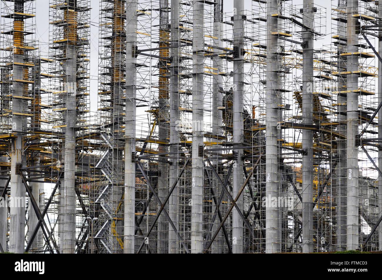 Werke des Wiederaufbaus des Nationalstadions bekannt als Estadio Mane Garrincha Brasilia Stockbild