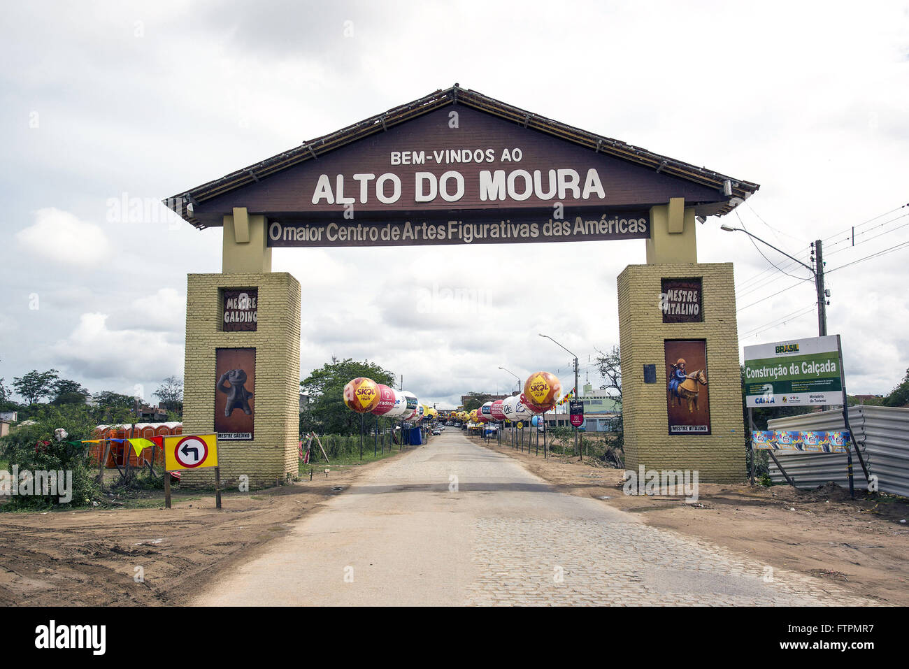 Gateway des Viertels hohe Moura - grobe Pernambuco Stockbild