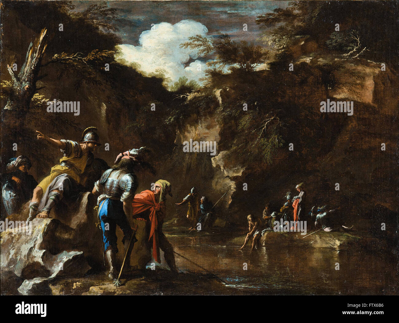Salvator Rosa - Szene aus der griechischen Geschichte Stockbild