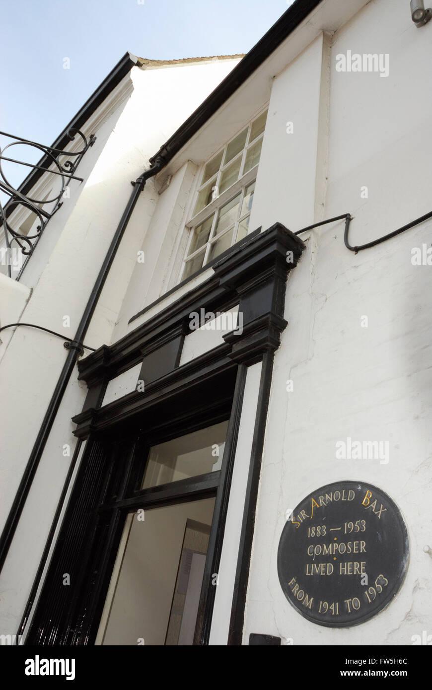 White Horse Hotel, Storrington, Sussex, Heimat des Komponisten Arnold Bax, aus 1941-1953 Stockbild