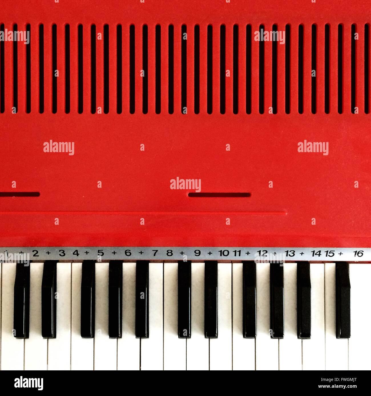 Nahaufnahme des Klaviers Stockfoto