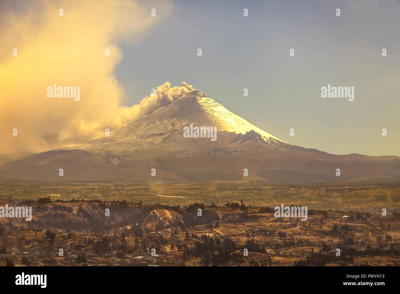 Cotopaxi Vulkan ist der höchste Gipfel In Ecuador, Südamerika Stockbild